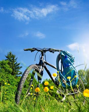 Fahrradtour Natur Sommer - Trekking Bike Tour in Summer